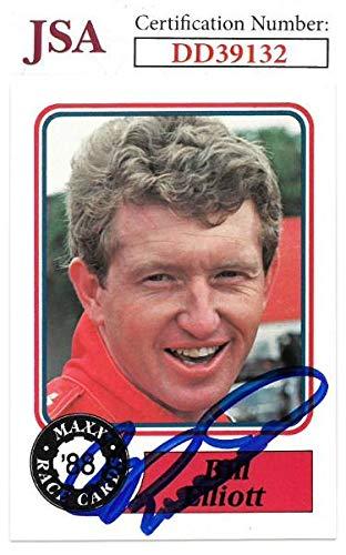 (Bill Elliott signed NASCAR 1988 Maxx Charlotte Racing Trading Card #50- Hologram #DD39132 - JSA Certified)