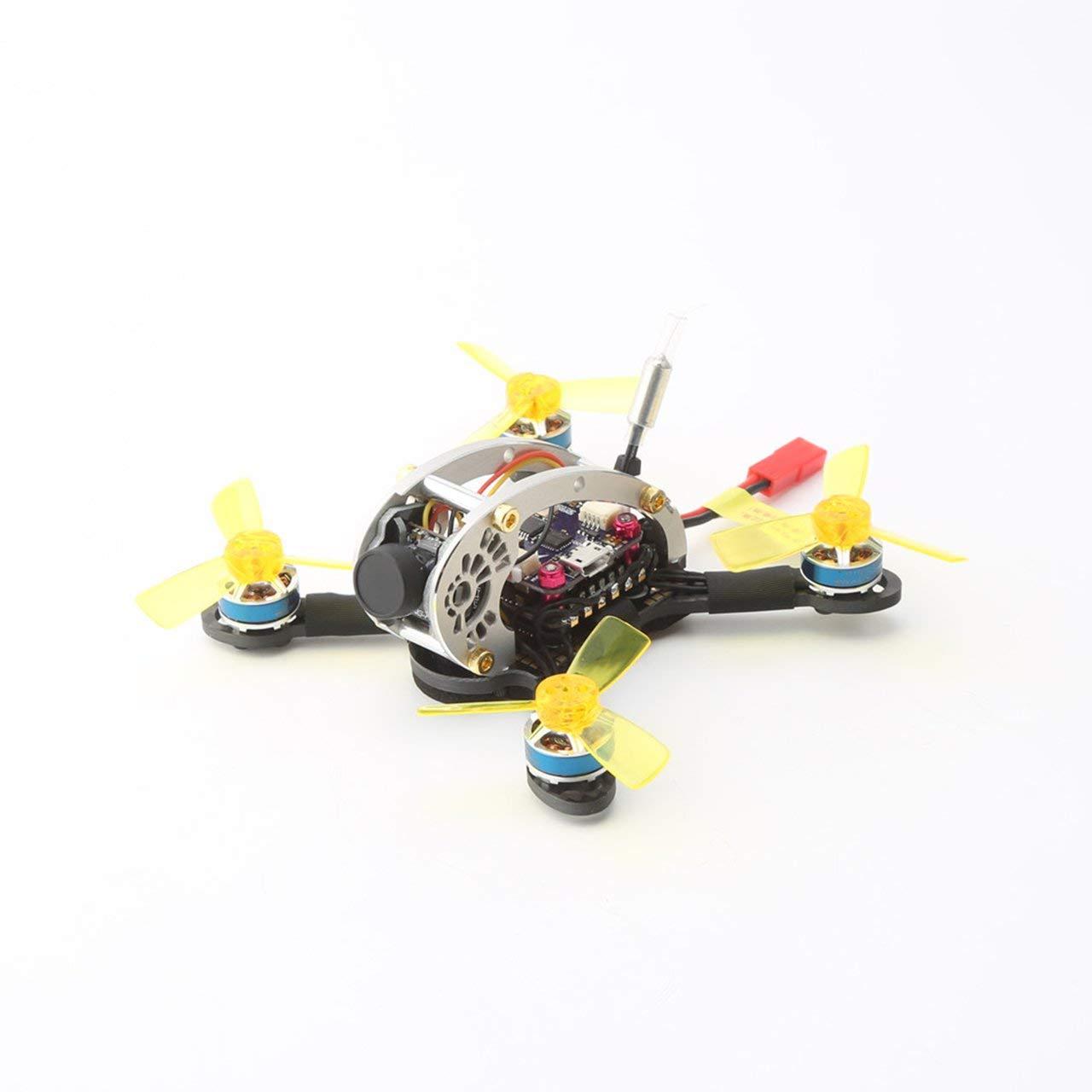 Jasnyfall LDARC FPVEGG V2 5.8G Brushless OSD Kamera AC900 RX Mini FPV RC Racing Drone PNP - Schwarz & Gelb