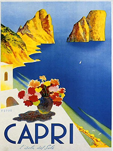 Capri, Italy Vintage Poster Reproduction