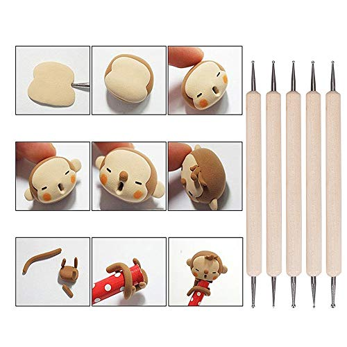 Tonsiki 61 Pieces Ceramic Clay Tools Set, Modeling Pottery Clay Sculpting Tools Kits for Beginners Professional Art Crafts, Wood and Steel, Schools and Home Safe for Kids by Tonsiki (Image #3)