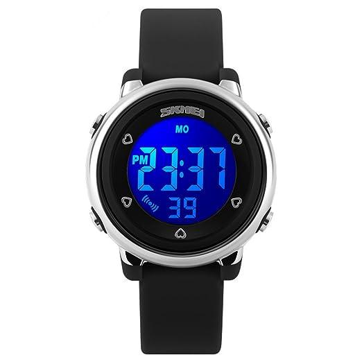 Skmei de los niños LED Digital impermeable reloj negro: Amazon.es: Relojes