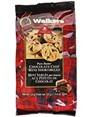 Walkers Mini Chocolate Chip Shortbread Rounds Cello Bag, 125g