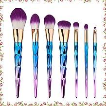 7 PCS Makeup Brushes Cosmetics Set Makeup Brush Set Professional Face Eyeliner Shadow Blush Cosmetic Brushes Set for Powder Liquid Cream (Purple)