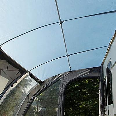 your GEAR toldo para caravanas Verona 390 Tienda para caravanas toldo para remolques Impermeable 5000mm toldo de Viaje Gris Azulado: Amazon.es: Coche y moto