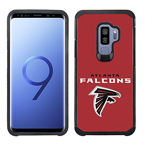 Prime Brands Group Textured Team Color Cell Phone Case for Samsung Galaxy S9 Plus - NFL Licensed Atlanta Falcons ()