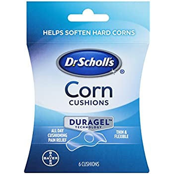Dr. Scholl's CORN CUSHION with Duragel Technology, 6ct // Cushioning Protection against Shoe Pressure and Friction that Fits Easily In Any Shoe for Immediate and All-Day Pain Relief