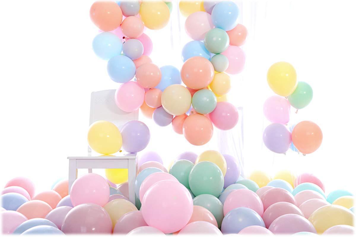 MFEI Palloncini Palloncini in Oro Rosa Palloncini in Lattice per Matrimonio Multicolor per Bambini Compleanno per Feste Forniture Decorazioni per Matrimoni Accessori per Feste in 100 Pezzi 12 Pollici