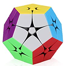 D-FantiX 2x2 Megaminx Stickerless Speed Cube Dodecahedron Puzzle Toy