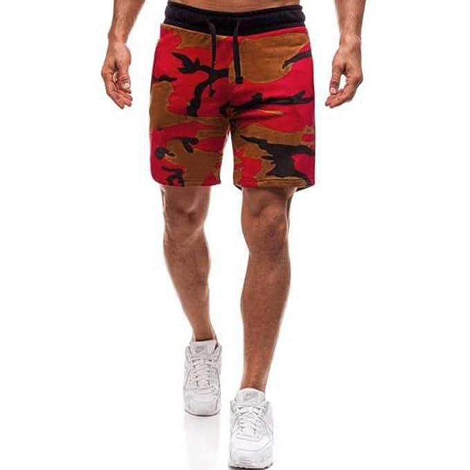 PARVAL Pantalones Cortos de Camuflaje para Hombres de la Moda ...