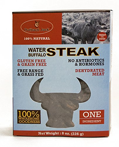 Outback Jack 8 oz Water Buffalo Steak Jerky Dog Treats, One Size Pet Buffalo Jerky