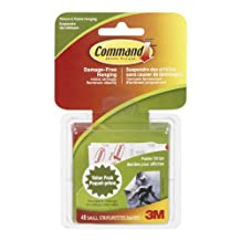 Command Small Poster Strip Value Pack, 48 Small Strips, (17024C-VP)