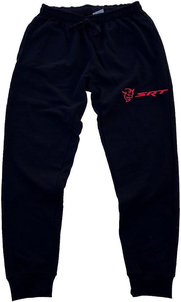 Mens Sweatpants Dodge SRT Hellcat Demon Athletic Jogger Long Pants Black