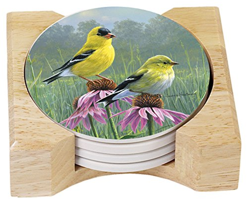 CounterArt Beautiful Songbirds Absorbent Goldfinches