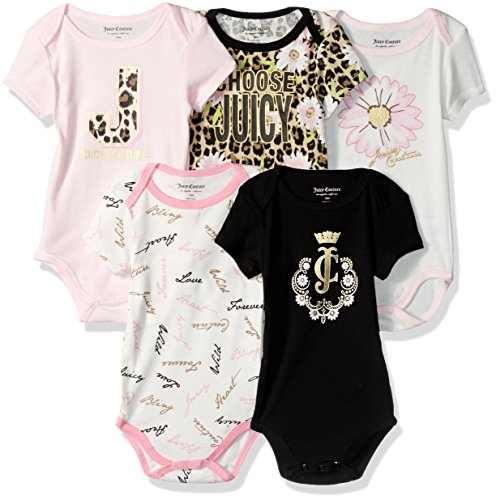 juicy-couture-baby-girls-5-pack-bodysuits-black-pink-18m