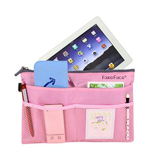 Travel Cosmetic Clear Makeup Insert Bag Nylon Zippered Mesh Bag Toiletry Handbag Purse Organizer Pouch Bag in Bag Tidy Luggage Storage Organiser