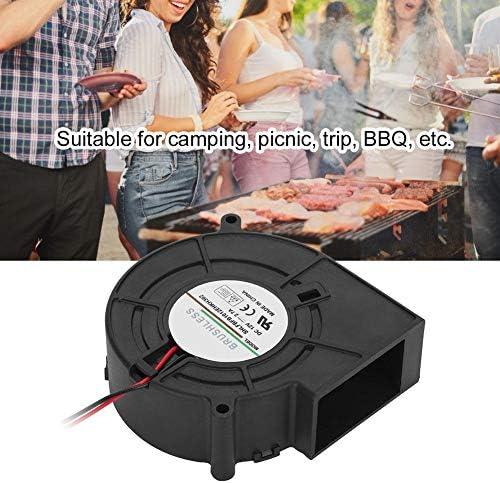 en Plastique DC 12 V BBQ Fan Portable BBQ Fan Air Blower pour Barbecue Pique-Nique Camping Feu Charbon De Bois Démarreur