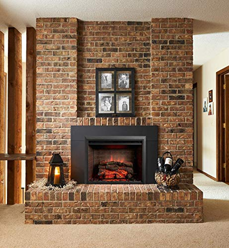 GreatCo Gallery Zero Series Insert Electric Fireplace (GI-32-ZC-IS-42-ZC), 42-Inch Surround