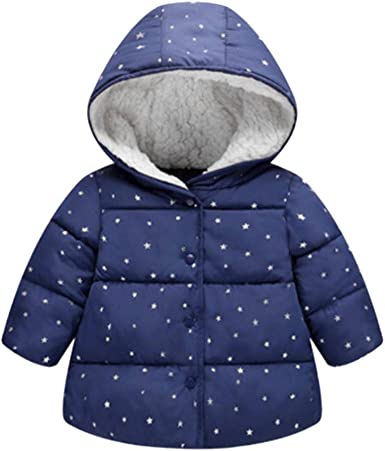 Lucoo Girls Coat,Kids Baby Winter Solid Coat Cloak Jacket Thick Warm Hoodie Outerwear Clothes