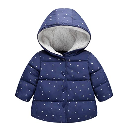 497ad882f kaiCran Little Boys Girls Star Hooded Jacket, Cartoon Zipper Hoodies Coat  Winter Warm Outerwear Toddler