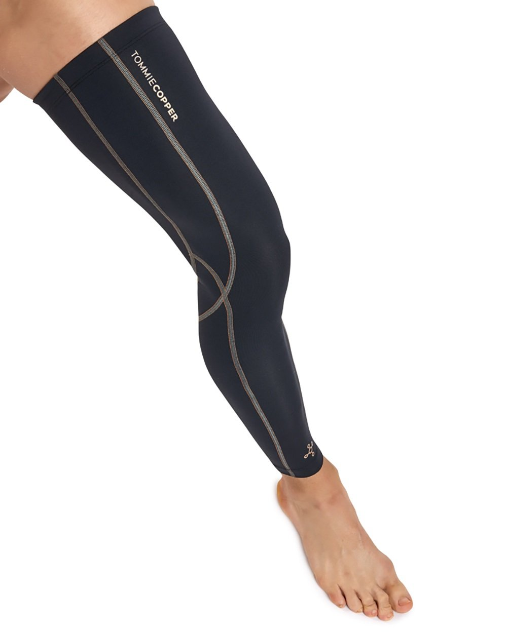 Tommie Copper Men's Performance Full Leg Sleeves 2.0, Small, Black by Tommie Copper (Image #2)