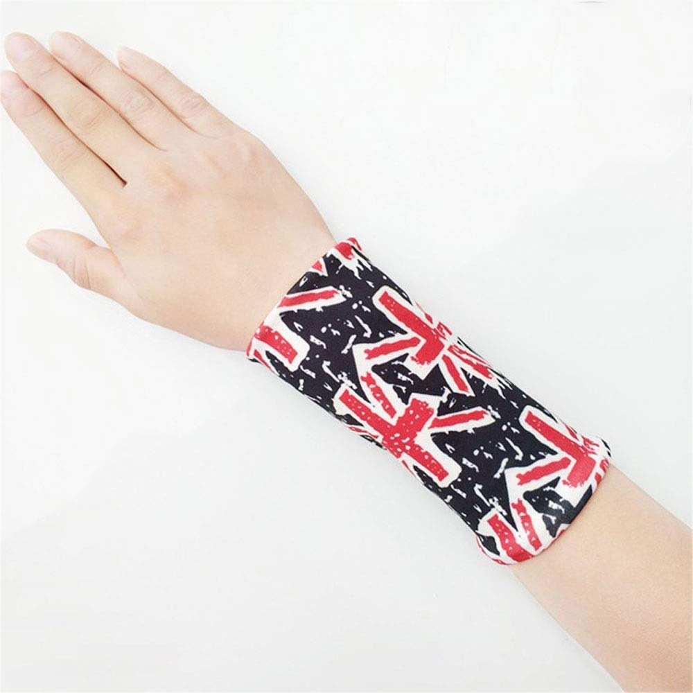 ZCF Wristband Men and Women with Grade Wristbands Tendon Sheath Sprain Inflammation Set Mother Hand Protective Gear Sports Fashion Thin Section Spring and Summer (Color : E, Size : L)