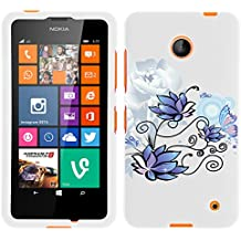 MINITURTLE, Slim Fit Graphic Design Image 2 Piece Snap On Protector Hard Phone Case Cover, Stylus Pen, and Clear Screen Protector Film for Prepaid Windows Smartphone Nokia Lumia 635 from /AT&T, /T Mobile, /MetroPCS (Illuminating Nature)