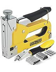 GOEHNER's Staple Gun with Staples, Heavy Duty Stapler 3 in 1 with 3000 Staples for Upholstery, Wood, DIY Fixing