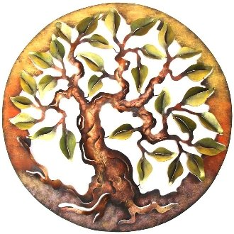 Tree Of Life Metal Wall Art Circle Frame Amazoncouk Kitchen Home
