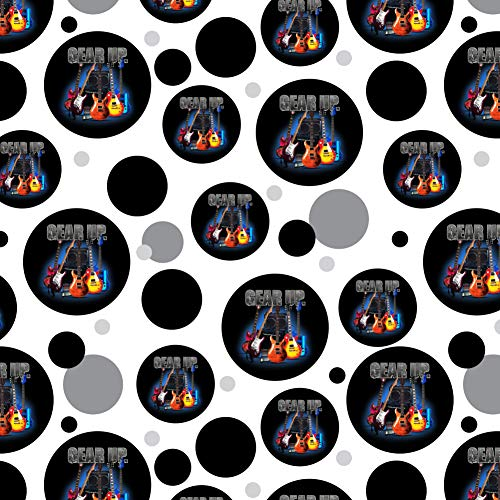 GRAPHICS & MORE Electric Guitars Gear Up Rock and Roll Premium Gift Wrap Wrapping Paper Roll