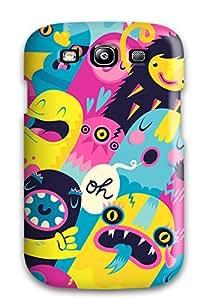 Megan S Deitz's Shop New Tpu Hard Case Premium Galaxy S3 Skin Case Cover(monsters)