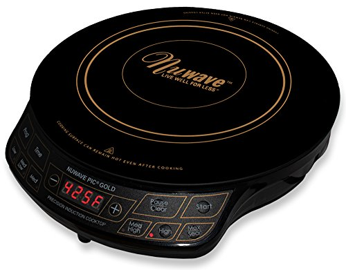 NuWave PIC Gold 1500W Portable Induction Cooktop Countertop Burner, - Gold Pics