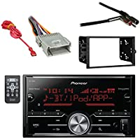 Pioneer Vehicle Digital Media Double DIN Receiver with Bluetooth with Metra Electronics Double DIN Installation Dash Kit, Metra Antenna Adapter GM Car Vehicle and Metra Radio Wiring Harness