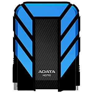 A-Data 500GB DashDrive Durable HD710 - Disco duro externo de 500 GB, azul