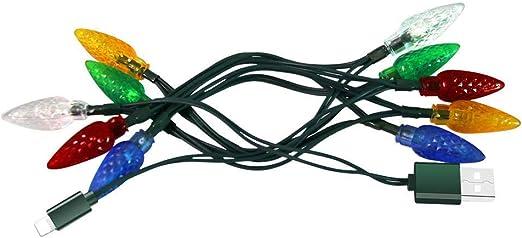 WARMWORD Cable LED de Navidad Smartphone Cable de Carga USB con Luces LED Decoración de la habitación Luces nocturnas Cable de Carga para teléfono Decoración de Navidad decoración de Fiesta: Amazon.es: Hogar