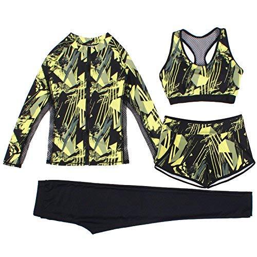 Estivi Sport colore Piatti Bagno Mostrato Solare Pantaloni Protezione Dimensione Costume Net Pezzi Bagno Mostrato Filato Come A Split Flower Yellow Da Unica Sau 4 Fragile M Taglia YzqqxRw