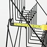 Set of 2 -Black Wire Display Rack, Four-Tiered