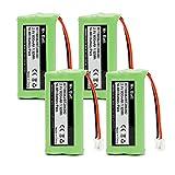 BT18433 BT28433 BT184342 BT-1011 Replacement Battery for Vtech Cordless Phone CS6209 CS6219 CS6229 DS6151 AT&T CL80100 CL80109 Uniden DCX400 Handset (4 Pack)