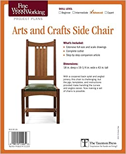 Arts And Crafts Side Chair Editors Of Fine Woodworking 9781600856198 Amazon Com Books