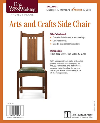 Arts and Crafts Side Chair (Making Chair Seats)