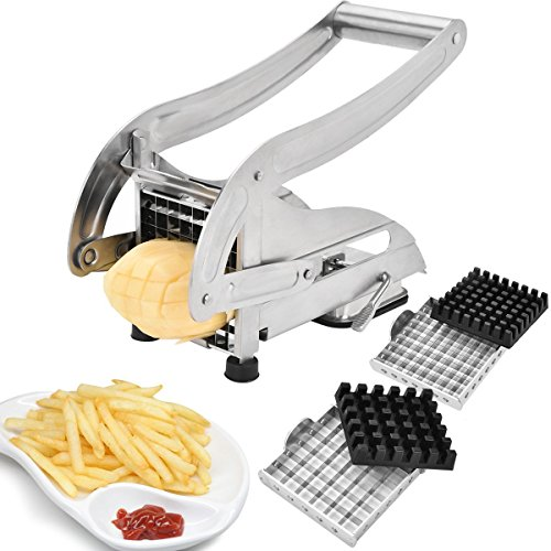 Sopitp French Fries Cutter, Stainless Steel No Plastic for Homemade...