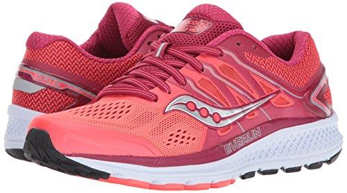 Saucony Women's Omni 16 Running Shoe, Berry Coral, 10 Medium US Photo #6