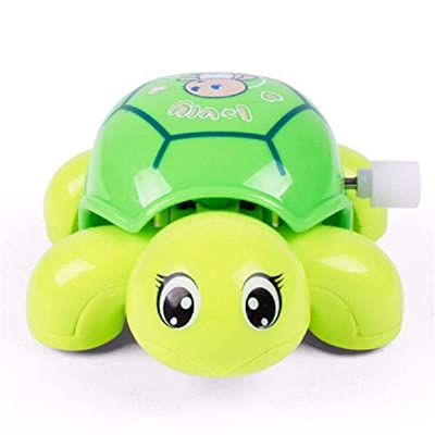 Yiphates 1Pcs Plastic Clockwork Crawling Turtles Tortoise Toy Wind Up Toys Random Color: Toys & Games