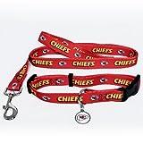 Hunter Kansas City Chiefs Pet Collar, Lead and ID Tag Combo Set, X-Small
