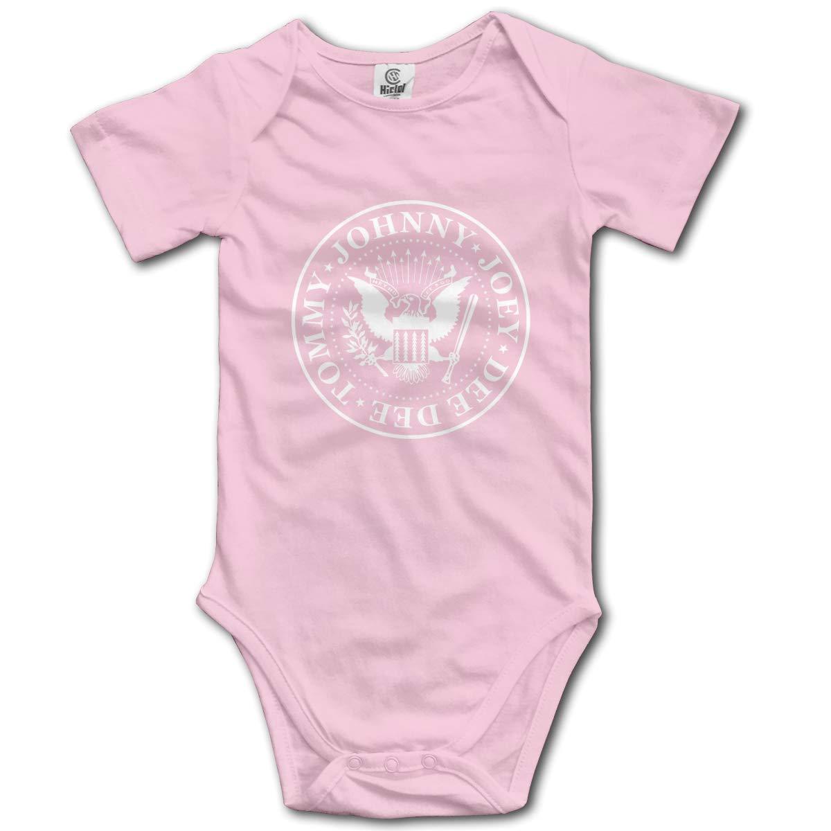 Baby Kurzarm Strampler Baby Body Neugeborenen Overall Strampler Louis Berry Ramones Logo