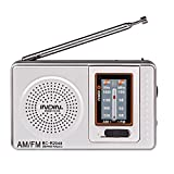 WiseField Mini AM/FM Radio Portable Telescopic Antenna Radio World Receiver Speaker