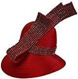 Womens Hats Church Hat Dressy Formal Designer Satin Ribbon Hat Red