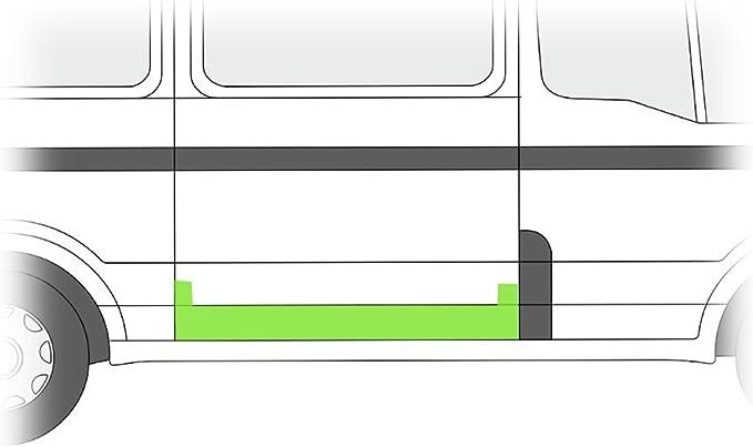 Chapa de reparación Puerta Corredera derecha B-Ware: Amazon.es: Coche y moto