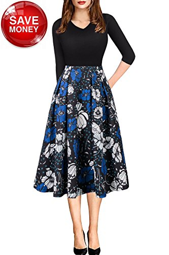 ladies 3/4 sleeve evening dresses - 9