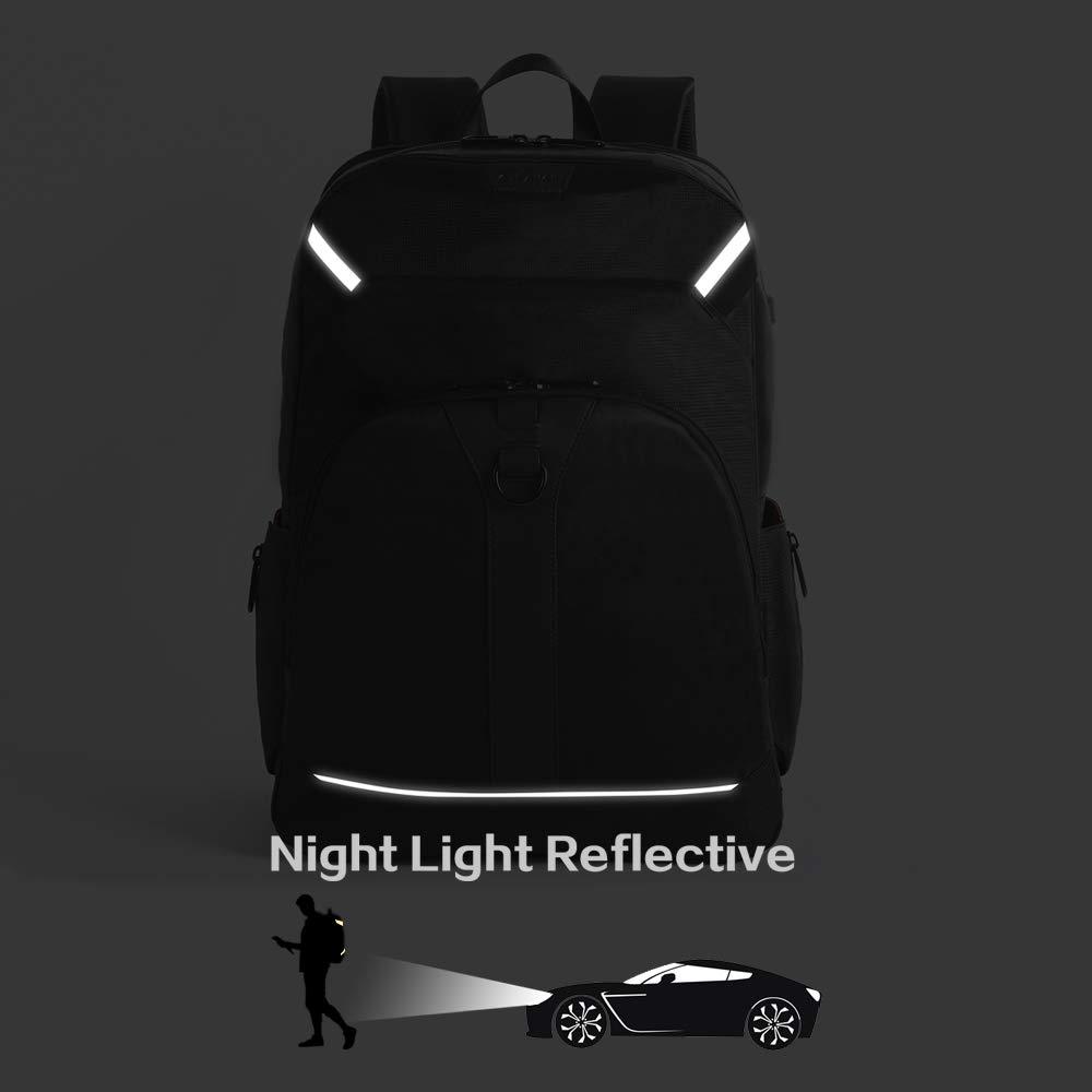 G-FAVOR Zaino per PC Portatile per Fino a 17,3 Pollici Notebook Zaini con Porta USB Zainetto da Uomo per Viaggio Lavoro Affari Viaggio Escursionismo Campeggio Scuola Business