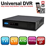 OwlTech True 1080P 8 Channel 5in1 Universal DVR ( 1080P TVI / 1080P CVI / 1080P AHD / 960H Analog / 6MP IP) Any Mix up to 8 Channels Support Onvif IP and Major Brand Camera (HikVision, Dahua, Swann)